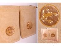 Комплект полотенец из 2шт  Скорпион , золото, 90x50 см.
