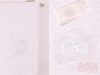 Полотенце  Рак ,белый, 90x50 см.