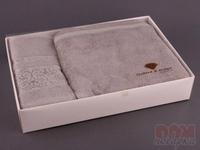 Комплект махровых полотенец из 2 шт. серый