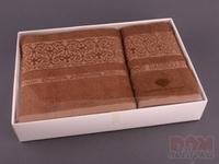 Комплект махровых полотенец из 2 шт. бежевый