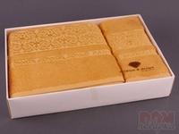Комплект махровых полотенец из 2 шт. желтый