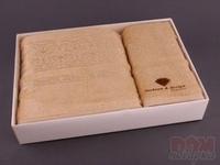 Комплект махровых полотенец из 2 шт. песочный