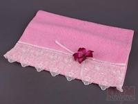 Полотенце 40*70 400г/м2 орхидея, розовое