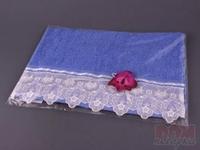 Полотенце 40*70 400г/м2 орхидея, голубое