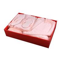 Комплект 5 пр.: халат размер l+тапочки+ 3 полотенца 150*100/50*100/30*50 плотность-480г/м2 A98