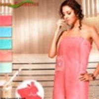 Набор для сауны с тапочками женский