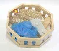 сув.банный набор в шестиуг.ящ.7пр 20х8см