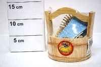 cув.банный набор в дерев. ведерке с ручкой, 13х11см