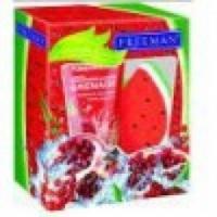 Скраб Freeman Freeman набор фруктовый щербет: сахарный скраб для тела гранат и мочалка для тела фрукт