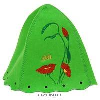 """Шапка для бани и сауны """"Нимфа"""", цвет: зеленый"""