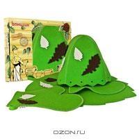 """Набор для бани и сауны """"Банный лист"""", цвет: зеленый. Б4723"""