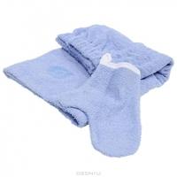 """Набор для бани и сауны """"Банные штучки"""": килт, рукавица, цвет: голубой"""