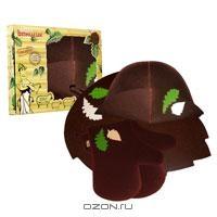 """Набор для бани и сауны """"Банный лист"""", цвет: коричневый. Б4627"""