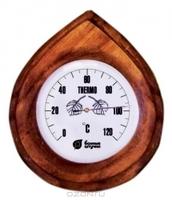 """Термометр """"Капля"""" 16*14*1,5см для бани и сауны /5"""