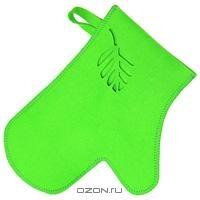 """Рукавица для бани и сауны """"Ришелье"""", цвет: зеленый"""
