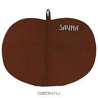 """Коврик для бани и сауны """"Сауна"""", цвет: коричневый"""