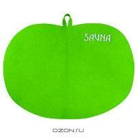 """Коврик для бани и сауны """"Сауна"""", цвет: зеленый"""