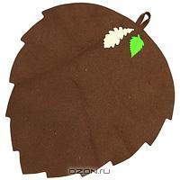 """Коврик для бани и сауны """"Банный лист"""", цвет: коричневый"""