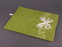 Полотенце 40*70 см  Бабочка   золотая нить, зеленое