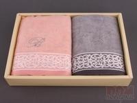 Комплект полотенец махровых из 2 шт. Блюмарин , 76x35 см.