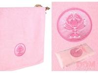 Полотенце  Рак , 360г/м2, розовый, 100x50 см.