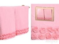 Комплект полотенец 2-шт . Розарий   , розовое, 90x50 см.