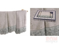 Комплект из 3-х полотенец  Ажур  фисташковый