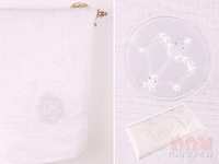 Полотенце  Стрелец , белый, 90x50 см.